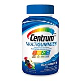 Centrum® Men MultiGummies (130 Count, Cherry, Berry, Apple Flavor) Multivitamin Gummies