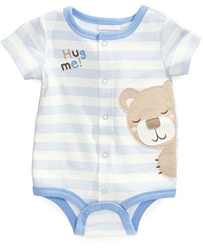 Baby Box Newborn Baby Boy Short Sleeve Romper Jumpsuit One Piece Size 12-18m
