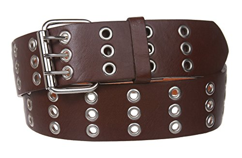Three Row Grommets Fashion Belt Size: XL 42~44 Color: - Two Row Grommets