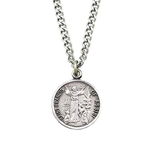 (Rosemarie Collections St Francis Religious Medal Pendant Necklace)