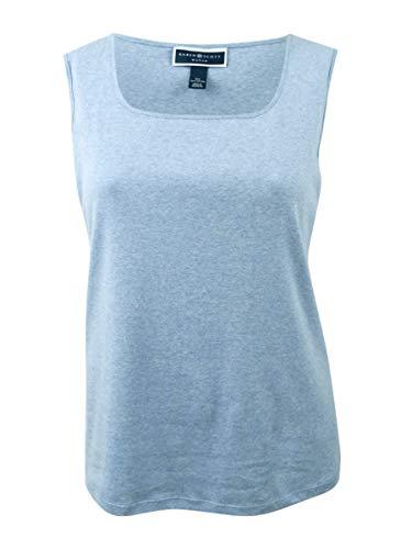 Karen Scott Womens Plus Square Neck Sleeveless Tank Top Blue 1X from Karen Scott