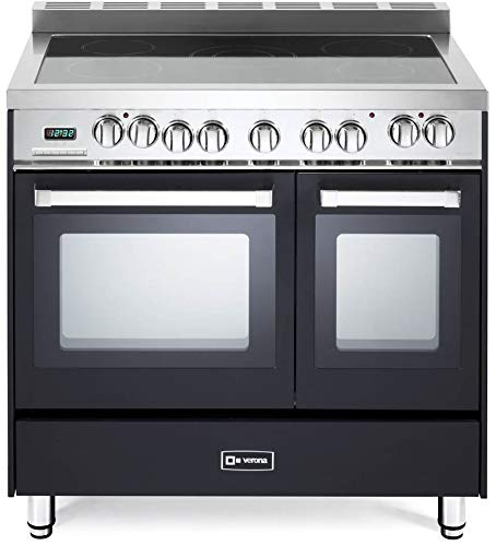Verona VEFSEE365DE 36 inch All Electric Double Oven Range Convection Matte Black