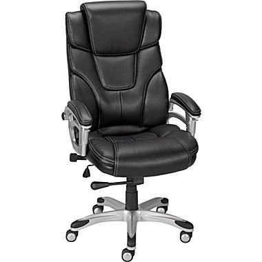 Staples Baird Bonded Leather Managers Chair Black  sc 1 st  Amazon.com : cheap black leather chairs - Cheerinfomania.Com