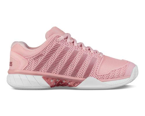 (K-Swiss Women's Hypercourt Express Tennis Shoe (Coral Blush/White, 7.5 M US))