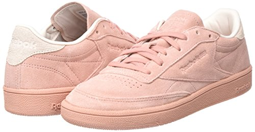 C Pink Pinkpale Reebok Tennis De 85 Rose Club Femme chalk Nbk Chaussures fw567qw