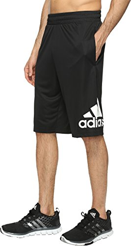 Style Mens Basketball Shorts (adidas Men's Basketball Crazylight Shorts, Black/White, Medium)