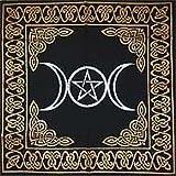 Pentacle Triple Goddess Altar Cloth