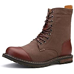 YINHAN Men's Oxford Shoes Lace up Military Combat Work Desert Ankle Boots