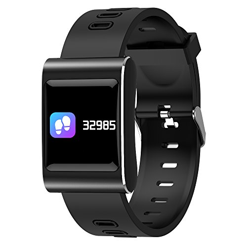 K88 Plus Smart Watch 1.0 Inch IP68 Waterproof Heart Rate/Blood Oxygen/Sleep Monitor Pedometer Remote Camera Weather Forest,Black