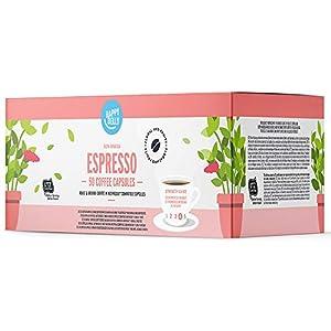Marchio Amazon - Happy Belly  Espresso Caffè UTZ tostato e macinato in capsule, compostabili, compatibili Nespresso, 5 x 10 capsule (50 capsule)