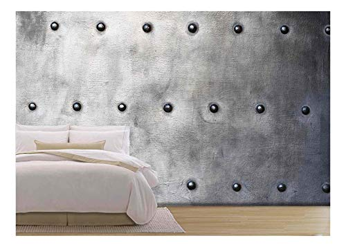 Black Grunge Metal Plate Texture Wall Decor