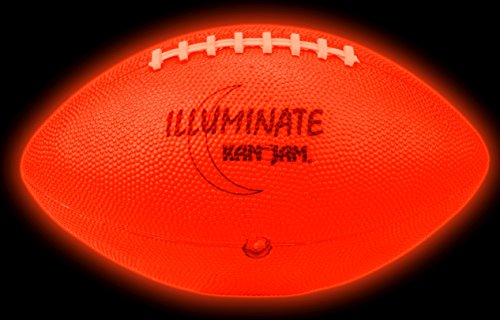 Kan Jam ILLUMINATE Ultra-Bright LED Light-Up Glow Football (Full Size and (Led Light Up Football)