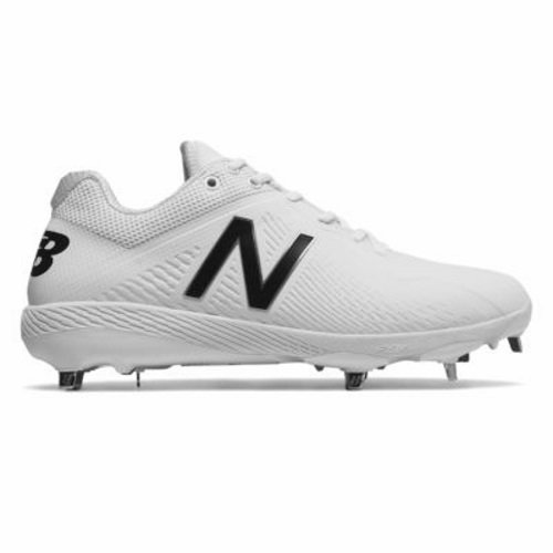 New Balance Men's L4040v4 Metal Baseball Shoe, Black/White, 11.5 D ()