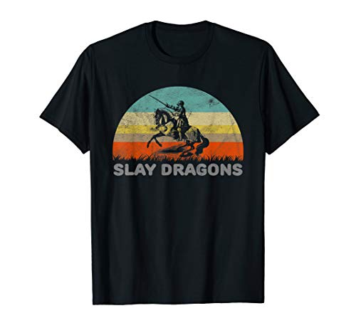 Funny Slay Dragons Folklore Knight T-Shirt