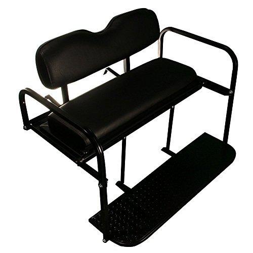 EZGO TXT Golf Cart Rear Flip Folding Back Seat Kit, 1995 and Up (Black Cushions) by Performance Plus Carts (Image #2)