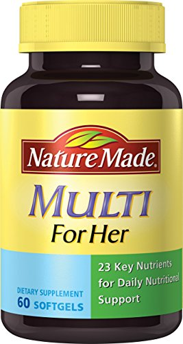 Nature Made Multi for Her Softgels - 23 Essential Vitamins & Minerals 60 Ct ()