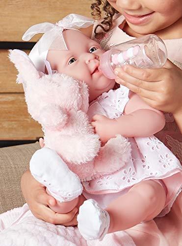 "4180vI%2B9p9L - JC Toys La Newborn Baby Play Dolls, White, Pink, 15"""