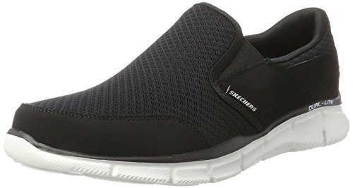 Skechers Sport Men's Equalizer Persistent Slip-On Sneaker, Black/White, 11.5 M US