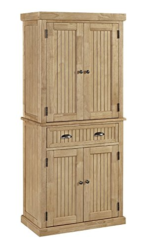 71.5'' Kitchen Pantry Made of Wood in Maple Finish with Classic Design and Holds a Lot of Storage Kitchen Furniture by eCom Fortune