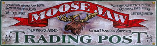 Cheap Rustic Lodge Signs – Moose Jaw Trading Post LARGE, 14×42