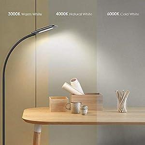 Floor Lamp, LED Floor Light, TECKIN Reading Standing Lamp Dimmable for Living Room Bedroom, Long Lifespan High Lumens…