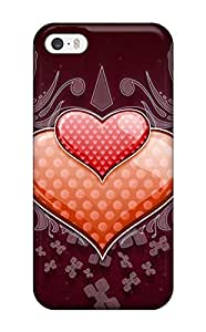Best Scratch-free Phone Case For Iphone 5/5s- Retail Packaging - Heart Love Vector Wide 3100532K99306724