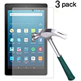 TANTEK Fire HD 8 Screen Protector, Anti Scratch,Bubble Free,Tempered Glass Screen Protector for Amazon Fire HD 8 (6th Gen-2016),[3-Pack]