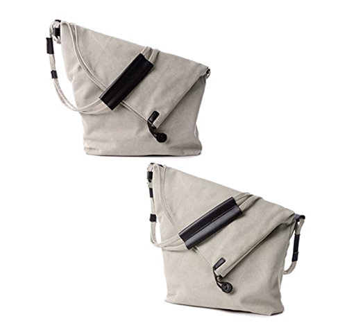 Simple Unisex Cross Messenger Casual body Handbag Beige Shoulder Oversize Hobo Canvas Tote Retro Classy rq0Wgtxnz0