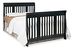 Stork Craft Tuscany 4-in-1 Convertible Crib, Black