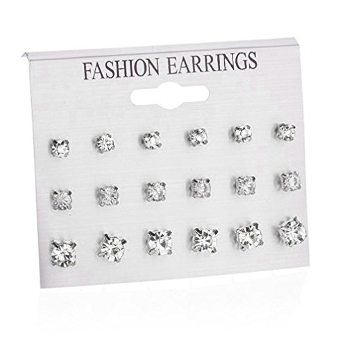 Round Hoop Classic Earrings - Fashion Simple Women Big Round Hoop Earrings Sets Combination Hypoallergenic Ear Stud Earrings for Girls Special,12 Pairs (Silver 6 (9 Pairs))