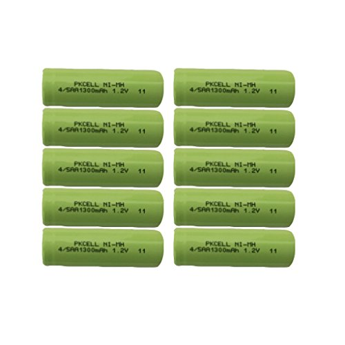 Rechargeable 4/5aa battery 1.2v ni-mh battery 1300mAh Count :Pcs (10)