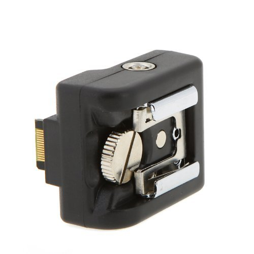 Black Flash Hot Shoe Mount Adapter Camera Wireless Speedlite Trigger for Sony NEX3 NEX-3C NEX5N