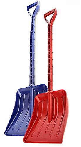 MnM-Home Extra Strong One Piece Construction, Kids/Toddler Plastic Snow – Beach sand Shovel. Two Set, Red-(girl) Blue-(boy).