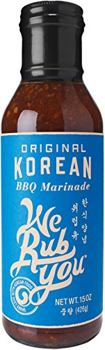 We Rub You Original Korean Barbeque Marinade, 15 Ounce - 6 per case. (Best Korean Bbq Marinade Recipe)