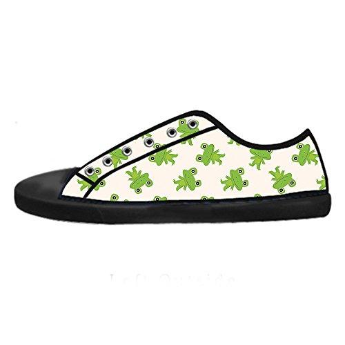 Custom Rana divertente Womens Canvas shoes I lacci delle scarpe scarpe scarpe da ginnastica Alto tetto