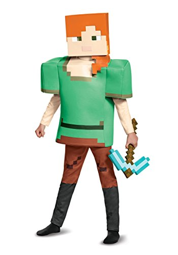 Alex Minecraft Costume (Alex Deluxe Minecraft Costume, Multicolor, Large (10-12))