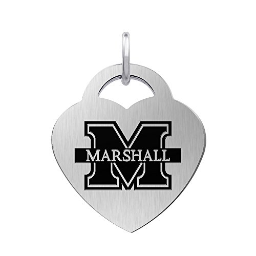 (Marshall University Thundering Herd Laser Engraved Stainless Steel Heart)