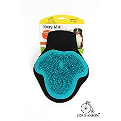 Lord Anson™ Kosy Mit - One Size Fits All Silicone Grooming Glove for Short and Long Haired Dogs - Dog Grooming Supplies - Deshedding and Bathing Glove