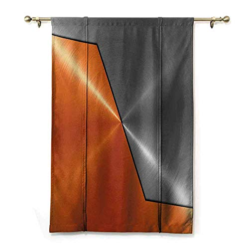 HCCJLCKS Room Dark Black Insulated Roman Blind Orange and Grey 3D Style Machinery Structure Image Detailed Vivid Modern Contrast Colors Thermal Insulated Block Out Sunlight Shade Orange Gray W36 xL72