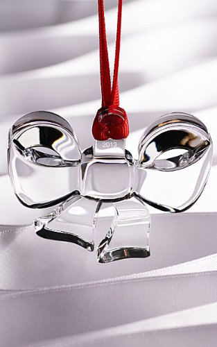Orrefors Ornament Collection 2013 Annual Crystal Christmas Bow Ornament Orrefors Annual