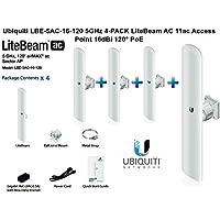 Ubiquiti LBE-5AC-16-120 5GHz 4-PACK LiteBeam AC 11ac Access Point 16dBi 120° PoE