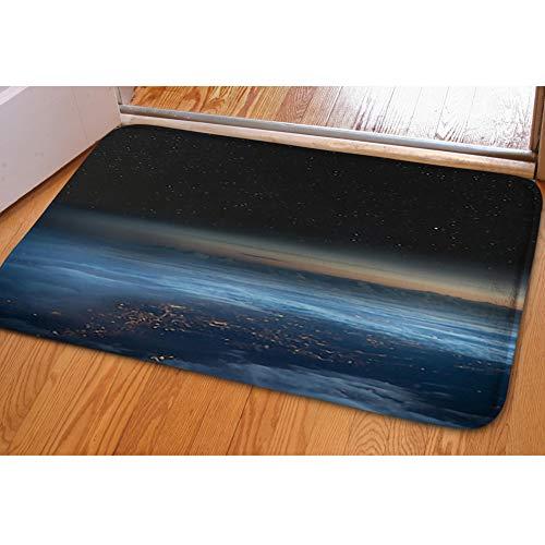 iBathRugs Door Mat Indoor Area Rugs Living Room Carpets Home Decor Rug Bedroom Floor Mats,high Altitude View Earth Night