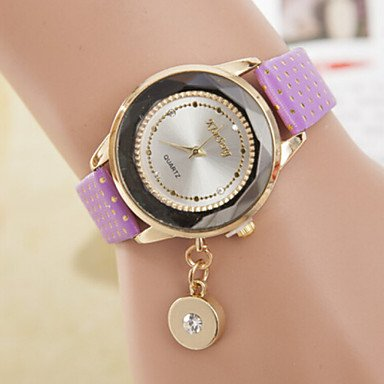 reloj de cuarzo swarovski pulsera disco gemas de mesa reloj Ewel moda colgante de la se?ora de las mujeres de los relojes White: Amazon.es: Relojes