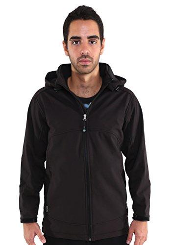 Northfield Sportswear Men's Softshell Jacket, XL, Black