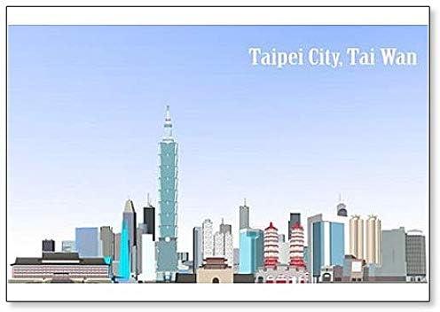 Taiwan Illustration Fridge Magnet Taipei City