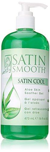 Satin Smooth Cool Gel, Aloe Vera, 16 Fluid Ounce (Satin Aloe Smooth)