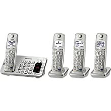 Panasonic KX-TGE274S Link2Cell Bluetooth Enabled Phone with Answering Machine & 4 Cordless Handsets