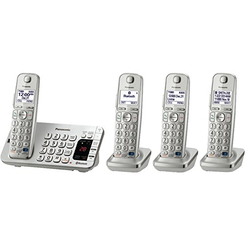 Panasonic KX-TGE274S Link2Cell Bluetooth 4  Cordless Handset