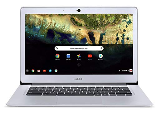 "Acer Chromebook 14 CB3-431-C99D, Intel Celeron N3060, 14"" HD Display, 4GB LPDDR3, 16GB eMMC, Metal Chassis, Sparkly Silver, Google Chrome"