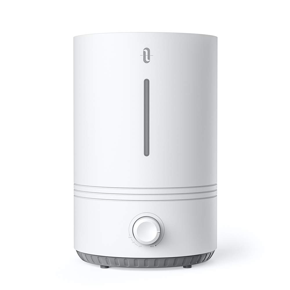 TaoTronics Top Fill Humidifiers for Bedroom Nursery [BPA Free], 4.3L Ultrasonic Cool Mist Humidifier for Home Office, Easy to Clean, 17-36 Hours, Whisper-Quiet, Auto Shut Off, Blue Mood Light (White)
